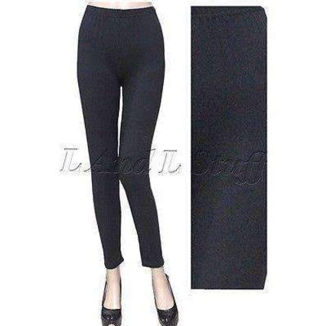 Lida Ladies Soft Peached Leggings Black One Size Leggings