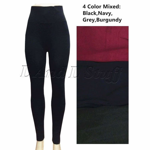 Lida Womens High Waist Leggings One Size Leggings