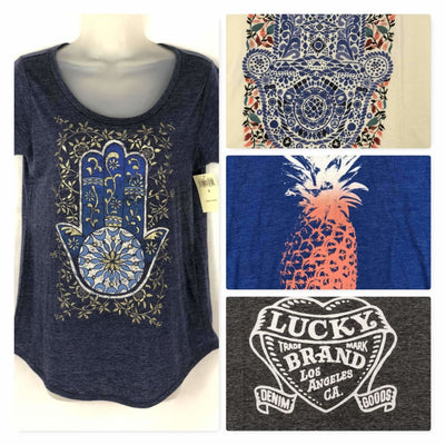 Lucky Brand Womens Graphic Tee Short Sleeve T-Shirts