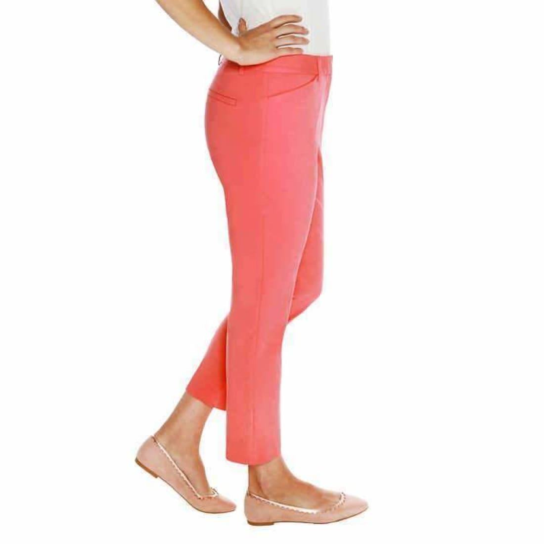 Mario Serrani Womens Comfort Stretch Slim Fit Ankle Length Pant Pants & Shorts