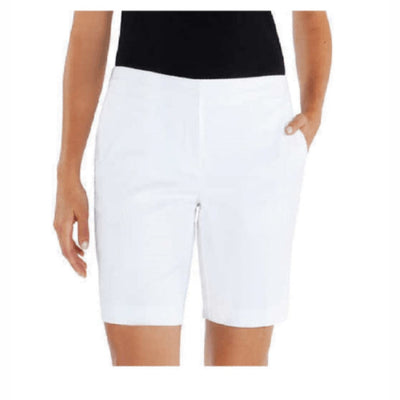 Mario Serrani Womens Italy Comfort Stretch Shorts 2 / White Pants & Shorts