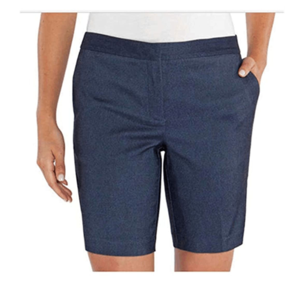 Mario Serrani Womens Italy Comfort Stretch Shorts 4 / Denim (Navy) Pants & Shorts