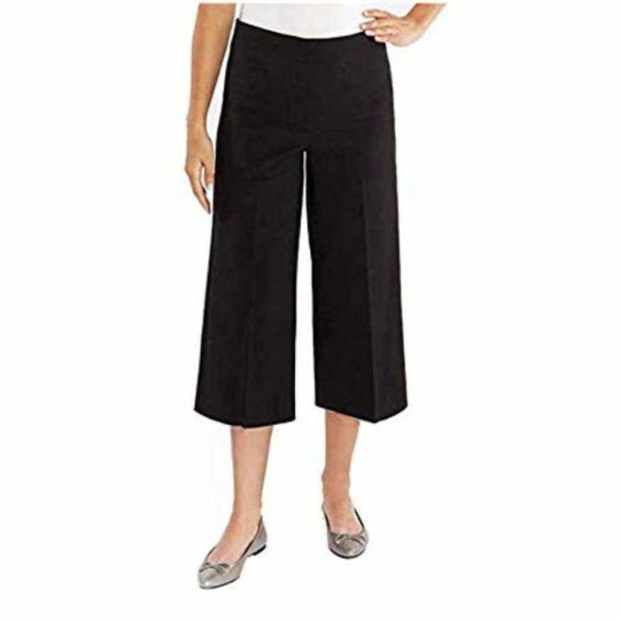Mario Serrani Womens Plazzo Crop Pant 4X23 / Black Pants