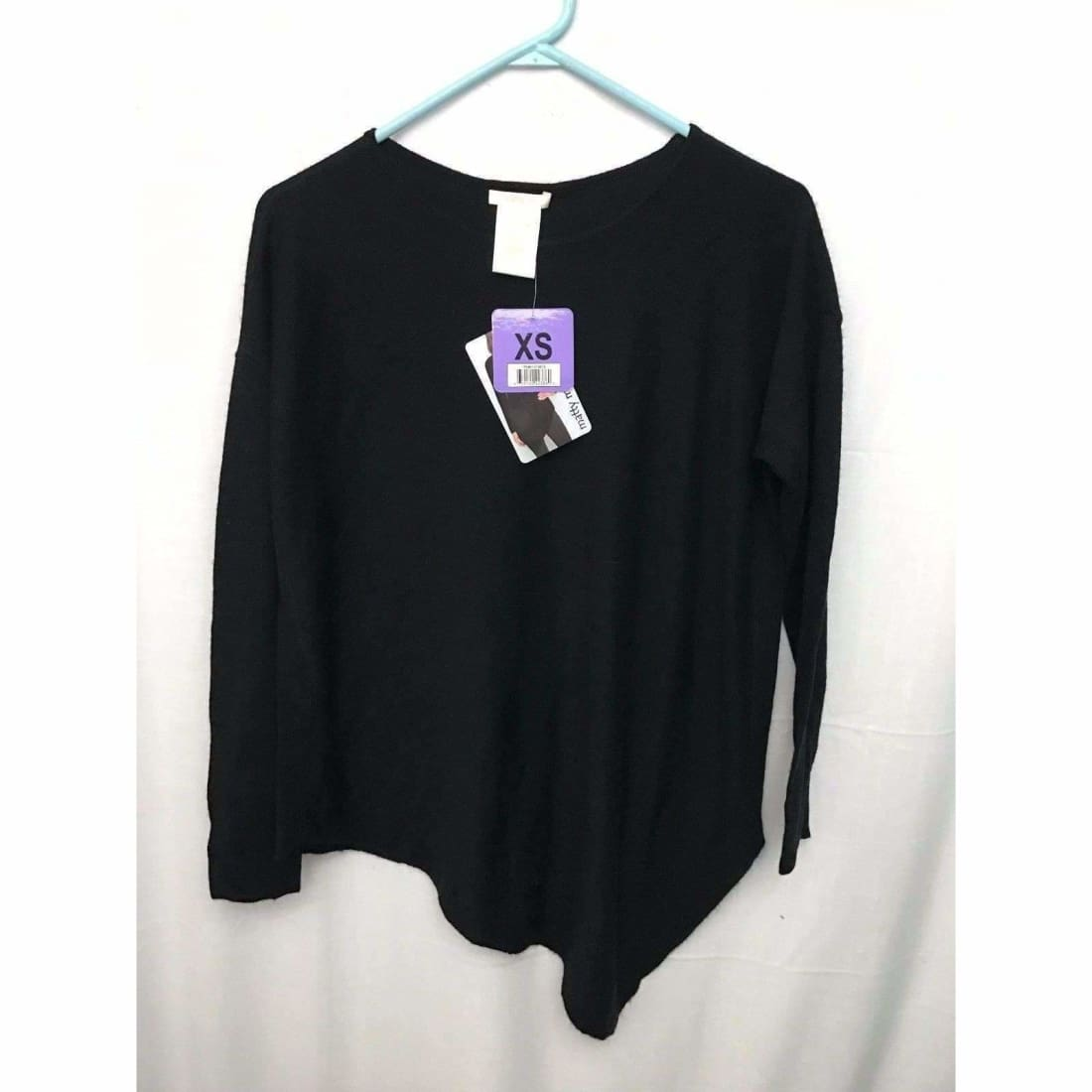 Matty M Asymmetrical Sweater Womens M / Black Sweaters