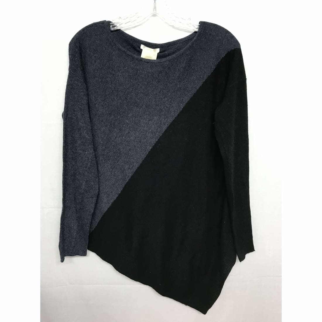 Matty M Asymmetrical Sweater Womens S / Denim/black Sweaters