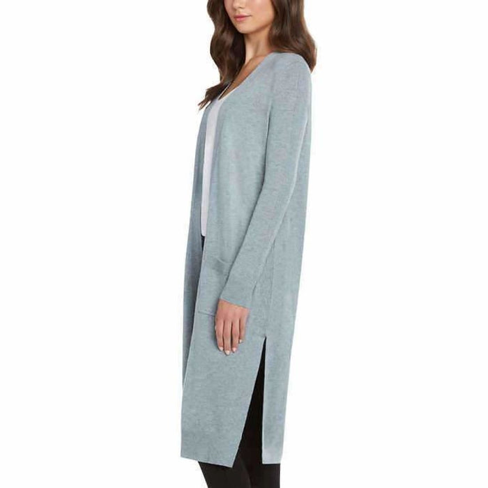 Matty M Ladies Open Front Cardigan Duster S / Blue Cardigan Duster