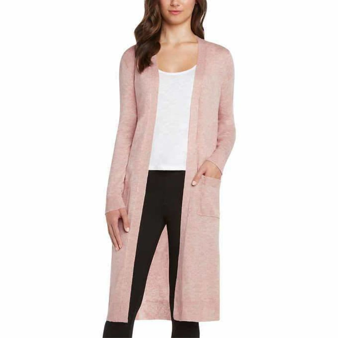Matty M Ladies Open Front Cardigan Duster Xl / Pink Cardigan Duster