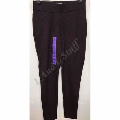 Matty M Slub Ponte Pants Pull On Legging Womens Sizes Regular / Xs / Deep Burgundy Leggings
