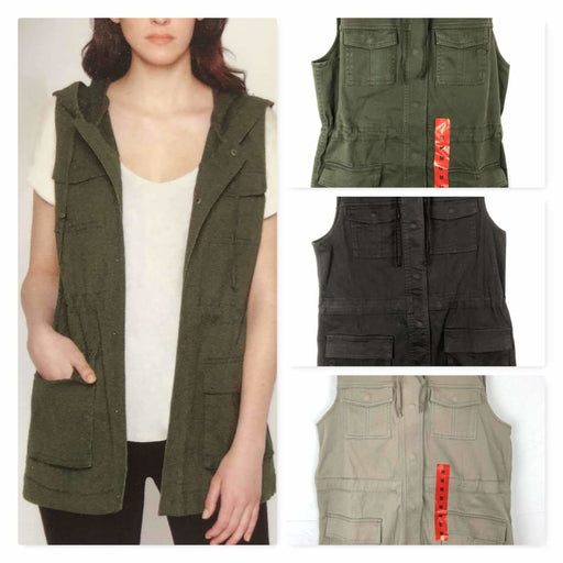 Matty M Womens Cargo Vest Outerwear