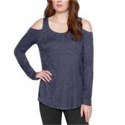 Matty M Womens Cold Shoulder Knit Top Tops & Blouses