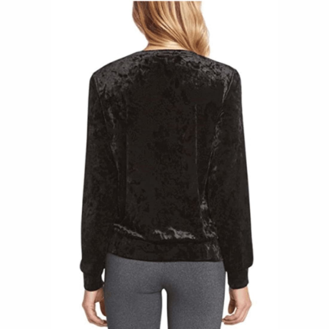 Matty M Womens Long Sleeve Velvet Top Tops & Blouses