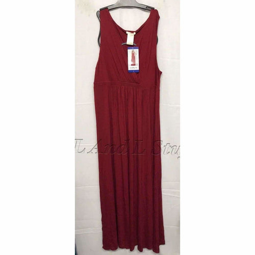 Matty M Womens Maxi Dress Ruby Red Dresses