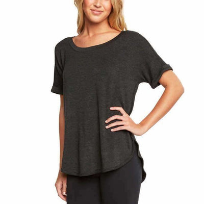 Matty M Womens Roll Cuff Tee Tops & Blouses