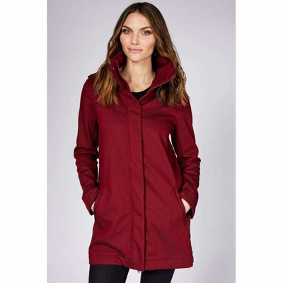 Mia Melon Stella Modern Rain Jacket M / Oxblood Red Outerwear