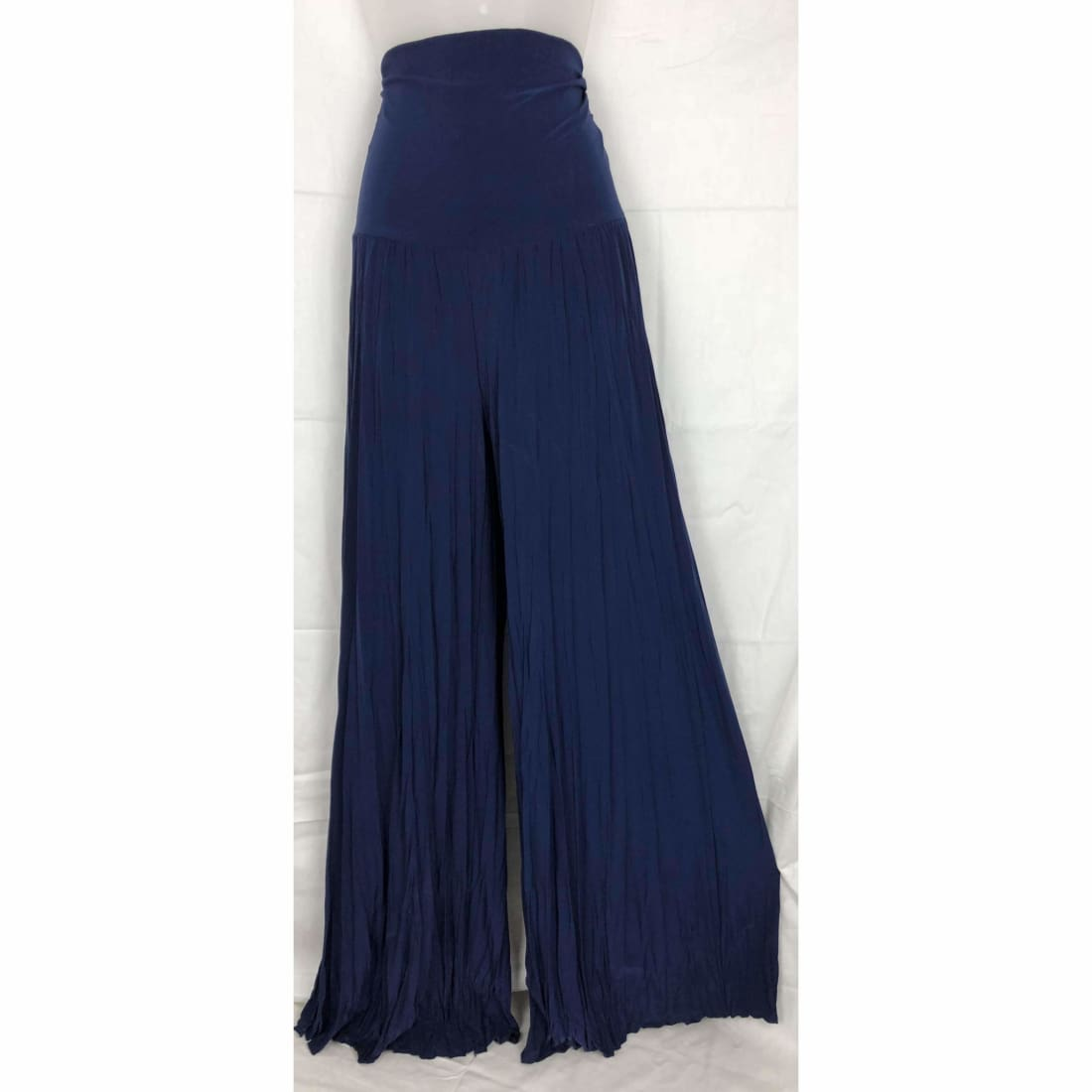 Michael Farrell Womens Palazzo Wide Leg Stretch Pants Usa S / Navy Pants & Shorts