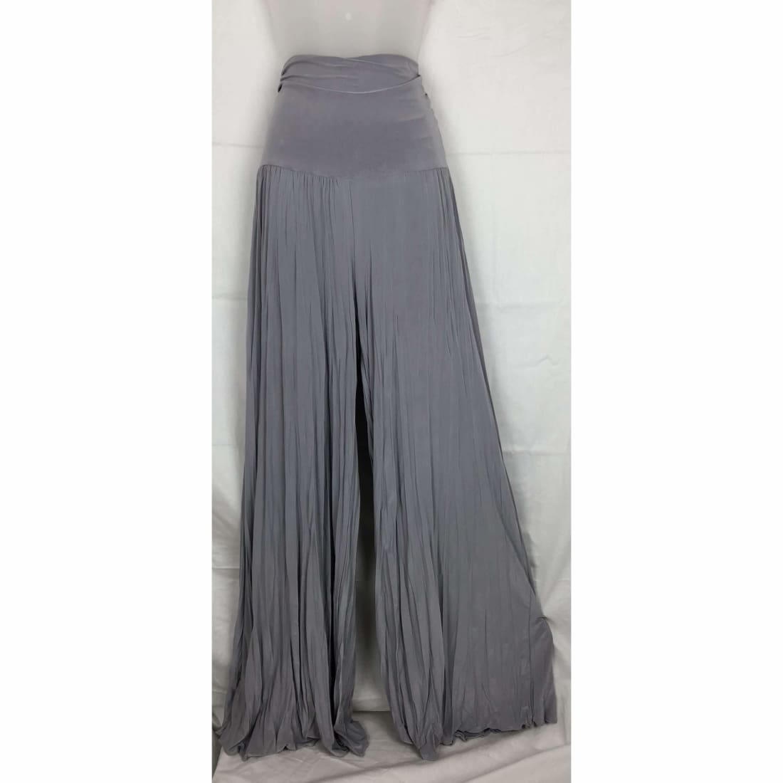 Michael Farrell Womens Palazzo Wide Leg Stretch Pants Usa S / Silver Pants & Shorts