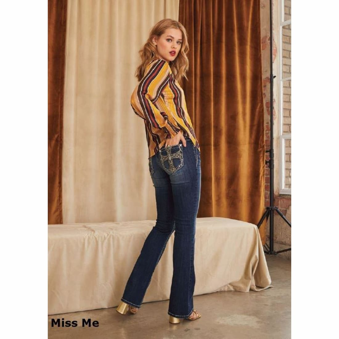 Miss Me Chloe Bootcut Jeans Style# M3473B / K985 Jeans
