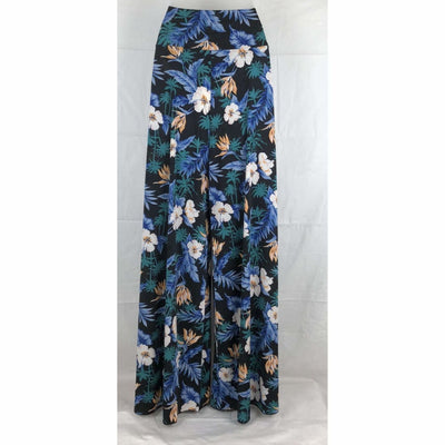 Modern Touch Womens Sash Waist Wide Leg Palazzo Pants S / Floral Pants & Shorts