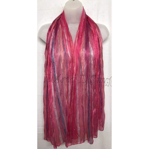 Multi Colored Stripped Light Weight Scarf 68 X 24 Scarves & Wraps