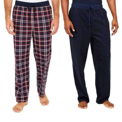 Nautica Mens 2-Pack Fleece Pant M / 6Nr Naut Red Sleepwear