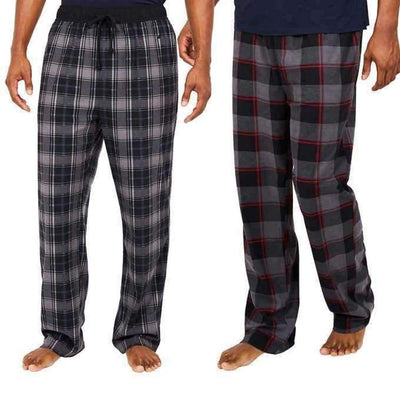 Nautica Mens 2-Pack Fleece Pant M / Castlerock Sleepwear