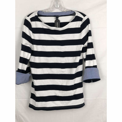 Nautica Womens Chambray 3/4 Sleeve Top M / Navy Stripe Tops & Blouses