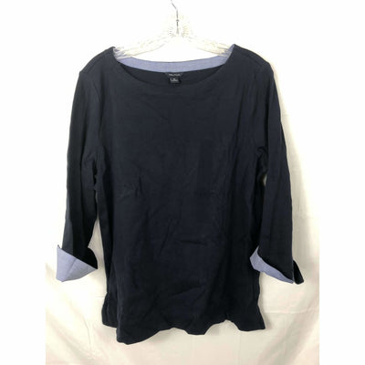 Nautica Womens Chambray 3/4 Sleeve Top Xl / 4Nv Navy Tops & Blouses