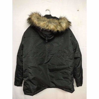 Noize Mens Mid Length Faux Fur Parka Body 15Ct Size Large Coats & Jackets