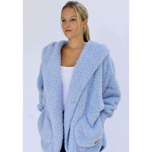 Nordic Beach Soft Cozy Body Wrap Cashmere Blue Scarves & Wraps