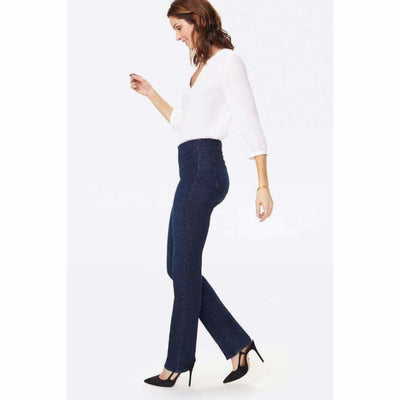 Nydj Marilyn Straight Pull-On Jeans 6 / Clean Denslowe Jeans