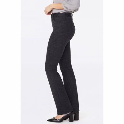 Nydj Womens Marilyn Straight Pants In Ponte Knit Herringbone Heights Jeans