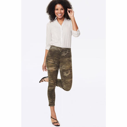 Nydj Womens Skinny Ankle Pull-On Jeans With Slit Style (Camo) Jeans