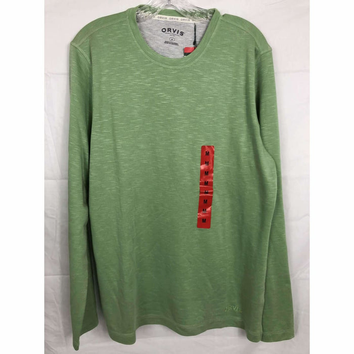Orvis Mens Long Sleeve Slub Tee M / Green Casual Shirts