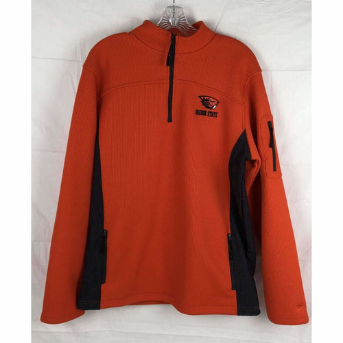 Osu Beavers Mens 1/4 Zip Ribbed Knit Pullover Sweater Size M Sweatshirts & Hoodies