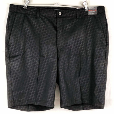 Pebble Beach Mens Dry-Luxe Performance Comfort Waist Short 32 / Classic Fit / Black Print Shorts