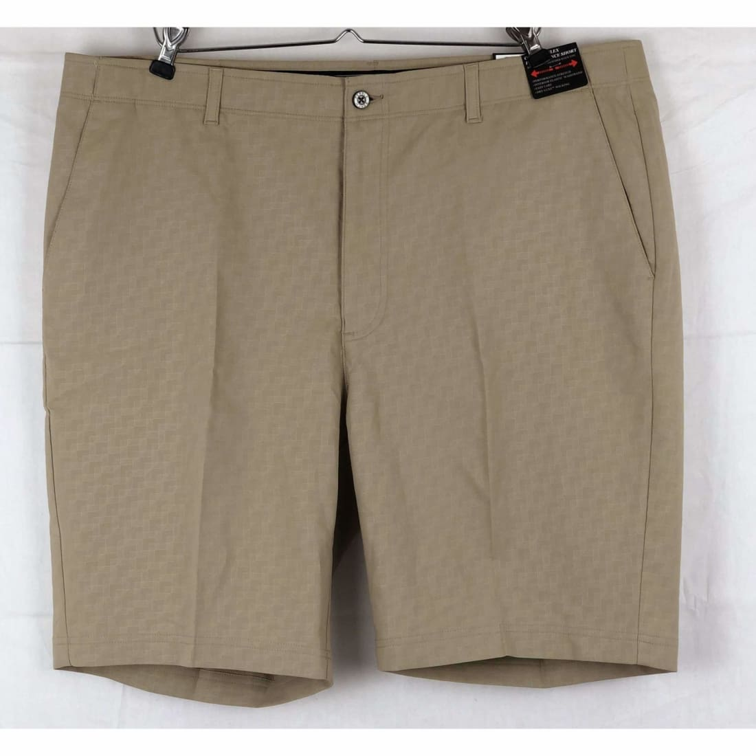 Pebble Beach Mens Dry-Luxe Performance Comfort Waist Short 40 / Classic Fit / Khaki Print Shorts