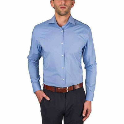 Perry Ellis Mens Dress Shirt 16-34/35 Regular / Blue Dress Shirts