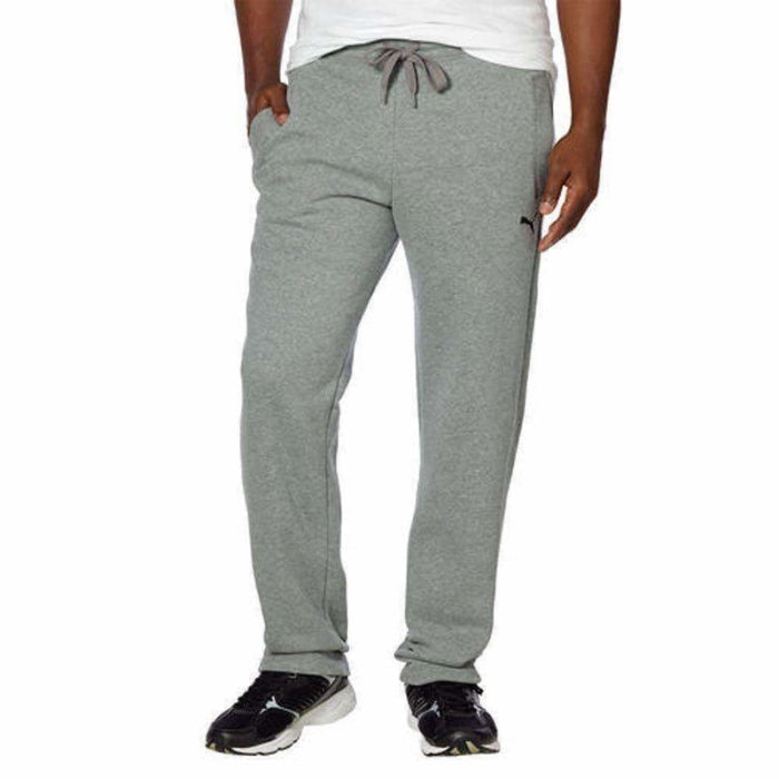 Puma Mens Fleece Pant S / Med Grey Pants