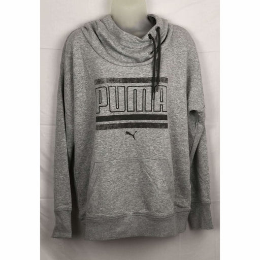 Puma Womens Refresh Hoodie Lt Grey Heather Sweats & Hoodies