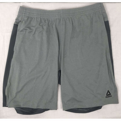 Reebok Mens Active Poly Knit Short L / Grey Shorts