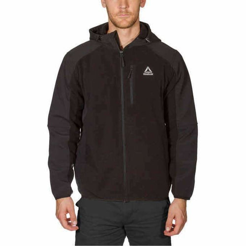 Reebok Mens Mixed Media Softshell Jacket M-Black Coats & Jackets