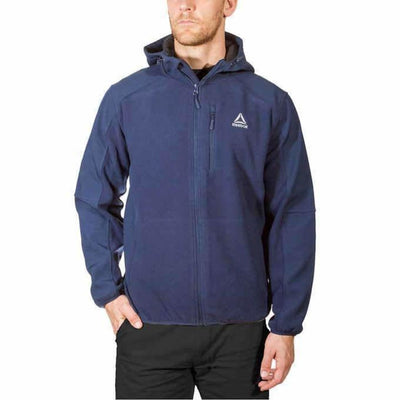 Reebok Mens Mixed Media Softshell Jacket Xxl-Navy Coats & Jackets