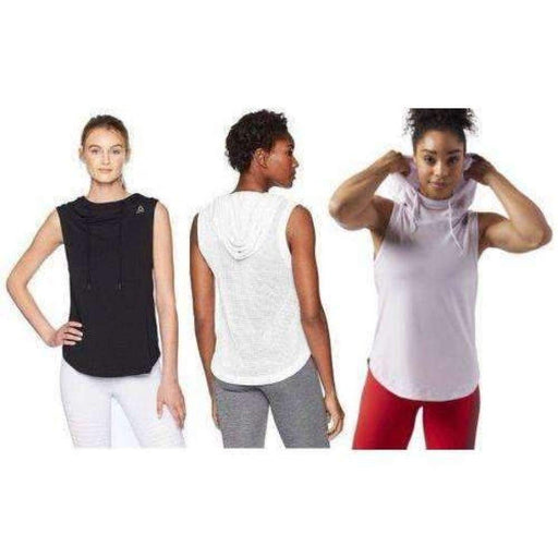 Reebok Womens Workout Ready Sleeveless Hoodie Athletic Apparel
