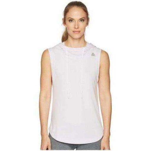 Reebok Womens Workout Ready Sleeveless Hoodie Xl Relaxed Fit / White Athletic Apparel