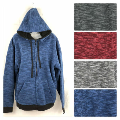 Salt Creek Mens Fleece Full Zip Sherpa Lined Hoodie Sweatshirts & Hoodies