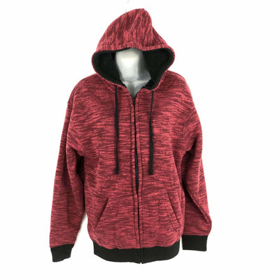 Salt Creek Mens Fleece Full Zip Sherpa Lined Hoodie M / Cardinal Sweatshirts & Hoodies
