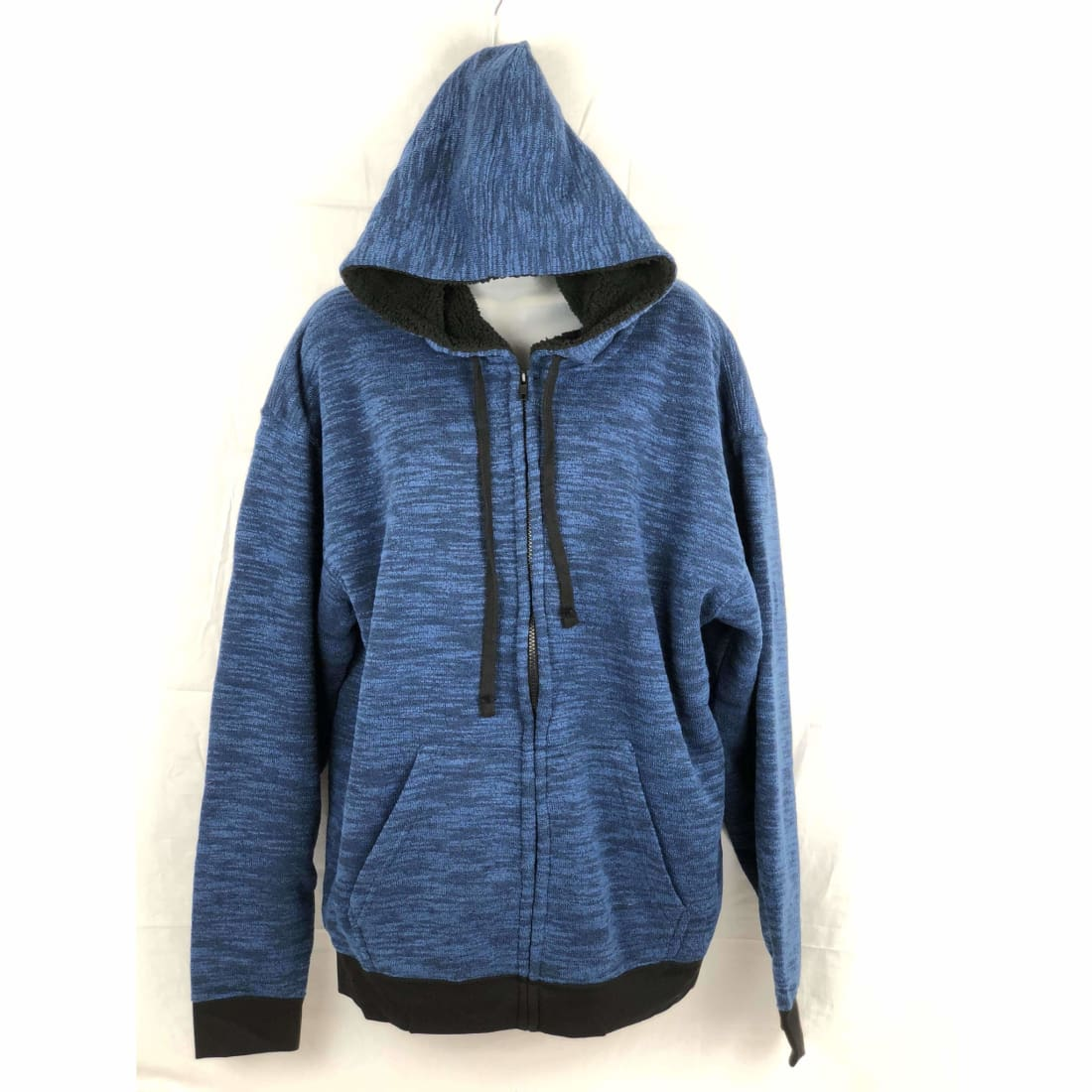 Salt Creek Mens Fleece Full Zip Sherpa Lined Hoodie M / Navy Sweatshirts & Hoodies