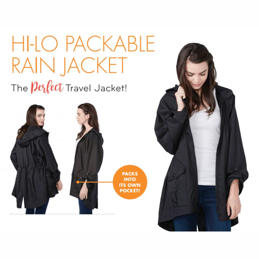 Shedrain Womens Hi-Lo Packable Rain Jacket Outerwear