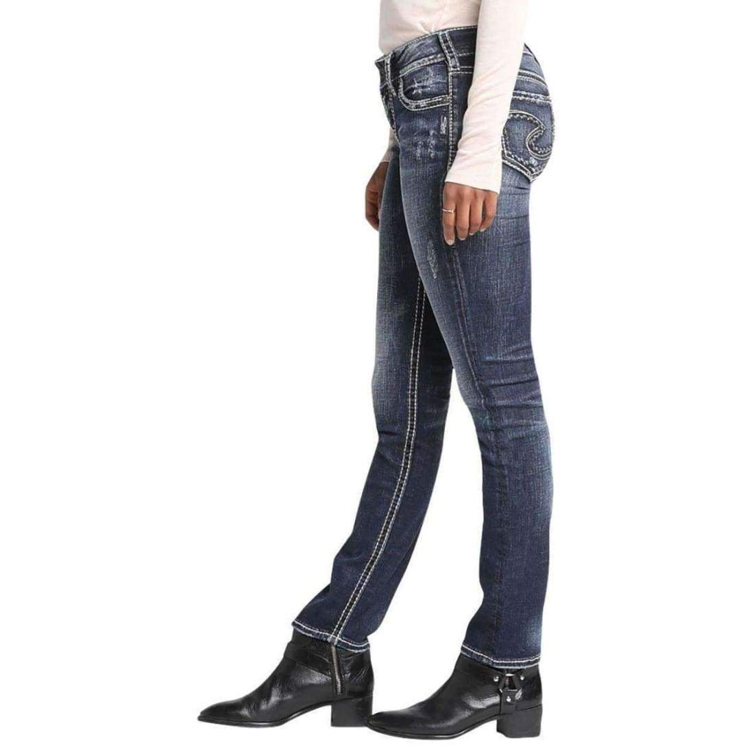 Silver Jeans Co. Womens Suki Straight 24 X 30 Jeans