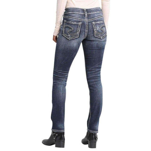 Silver Jeans Co. Womens Suki Straight Jeans
